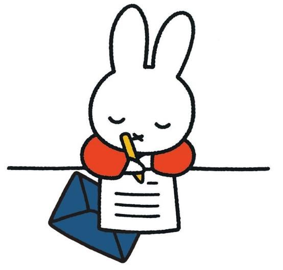 手紙を書くミッフィー